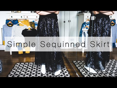 Sewing a Simple Sequinned Skirt