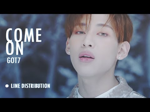 ● GOT7 - COME ON Line Distribution (Color Coded)