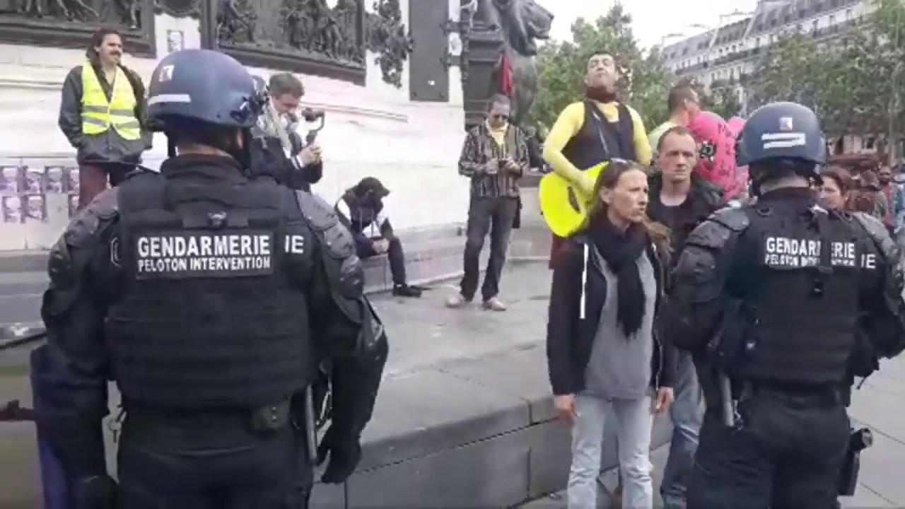 Gilets Jaunes REPUBLIQUE żółte kamizelki Akt 28