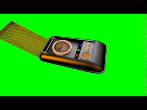 Communicat NCC-1701 3D Model  Animation  S01r01 Green Screen Star Trek Style