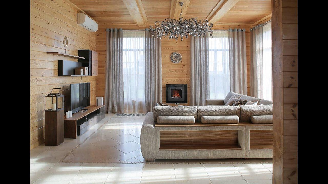 Интерьер современного деревянного дома - YouTube