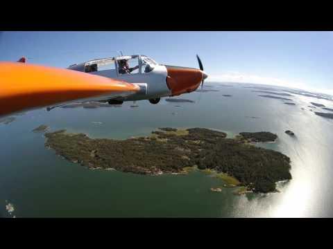 Saab Safir over Finnish archipelago
