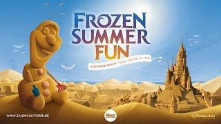 Disney Frozen Summer Fun - Sand Sculpture Festival Oostende 2015 Aerial Teaser