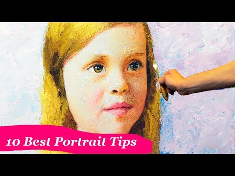 10 BEST TIPS for portrait painters from the Master of Fine Arts.