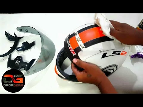 How To Clean And Maintain Your Motorcycle Helmet | ls2 helmets | dropgear