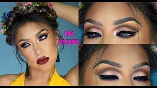 Maquillaje Colorido MEXICANO / Frida Look makeup tutorial | auroramakeup