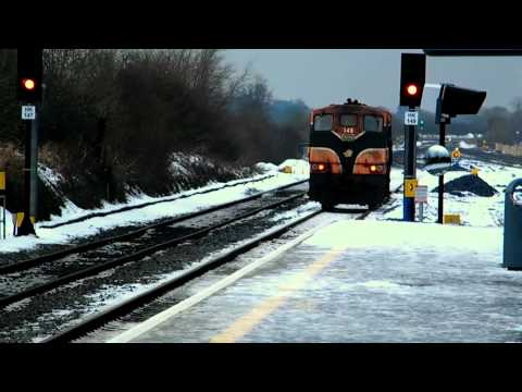 Irish Rail diesel in snow