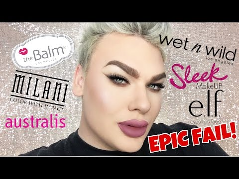 Full Face First Impressions Drugstore Makeup   Trying new Makeup (FAIL)