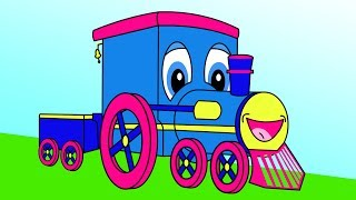 """""""Stevie Steamer the Train"""" - Counting Shapes 5 - 10 Adventure, Toddler Learning, Teach Babies & Kids"""