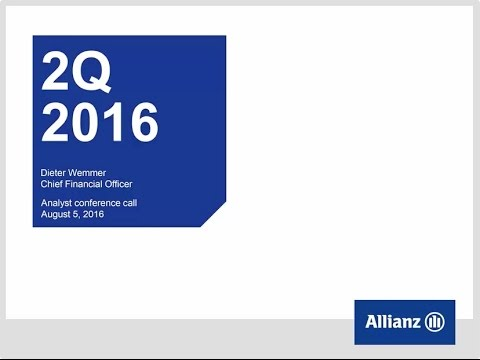 Allianz Group Analysts' conference call on second quarter 2016