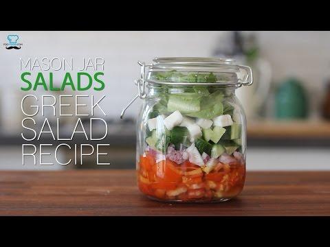 Greek salad recipe Mason Jar Salad