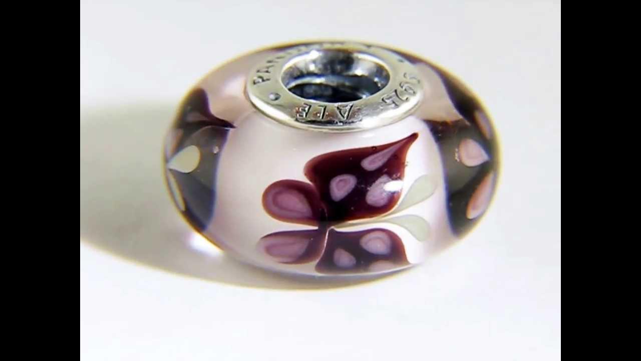 Pandora Pink Butterfly Kiss Murano Glass Charm 791621