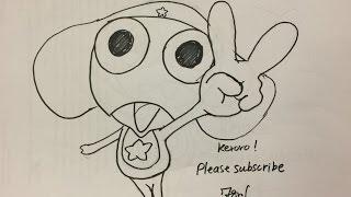 How to draw cartoon series #1 Keroro - DrawisSimple