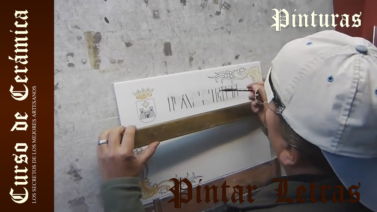 curso de cer mica pintar letras en placa de cer mica o