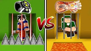 OMNITRIX BEN 10 VS MANOPLA DO INFINITO DO THANOS NO MINECRAFT!!