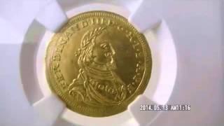 ドイツ1ダカット金貨 German States Augsburg  Free City gold Ducat 1645 Ferdinand III MS63 NGC