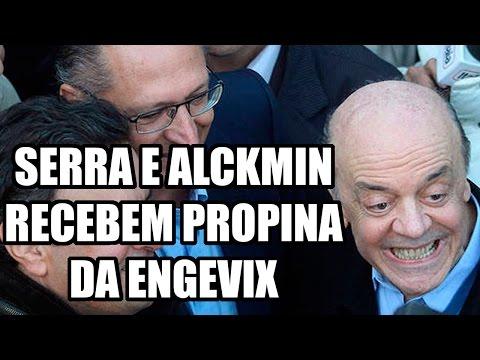SERRA E ALCKMIN RECEBEM PROPINA DA ENGEVIX