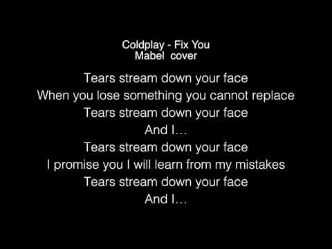 Mabel- Fix You Lyrics (Coldplay) cover in the Live Lounge