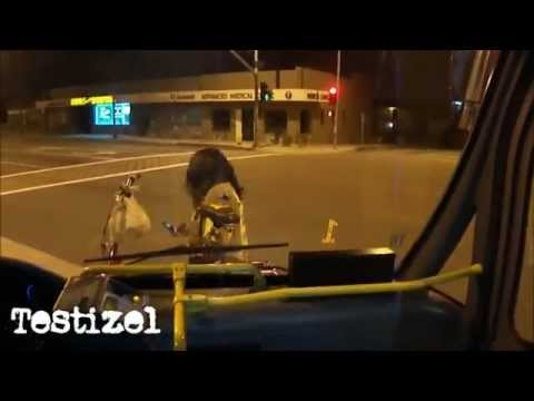 Crazy Man Wearing Wig Terrorizes Bus Driver