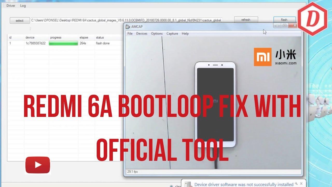 REDMI 6A BOOTLOOP Flasing Stock Rom Global Via Fastboot(bootloader Unlocked)