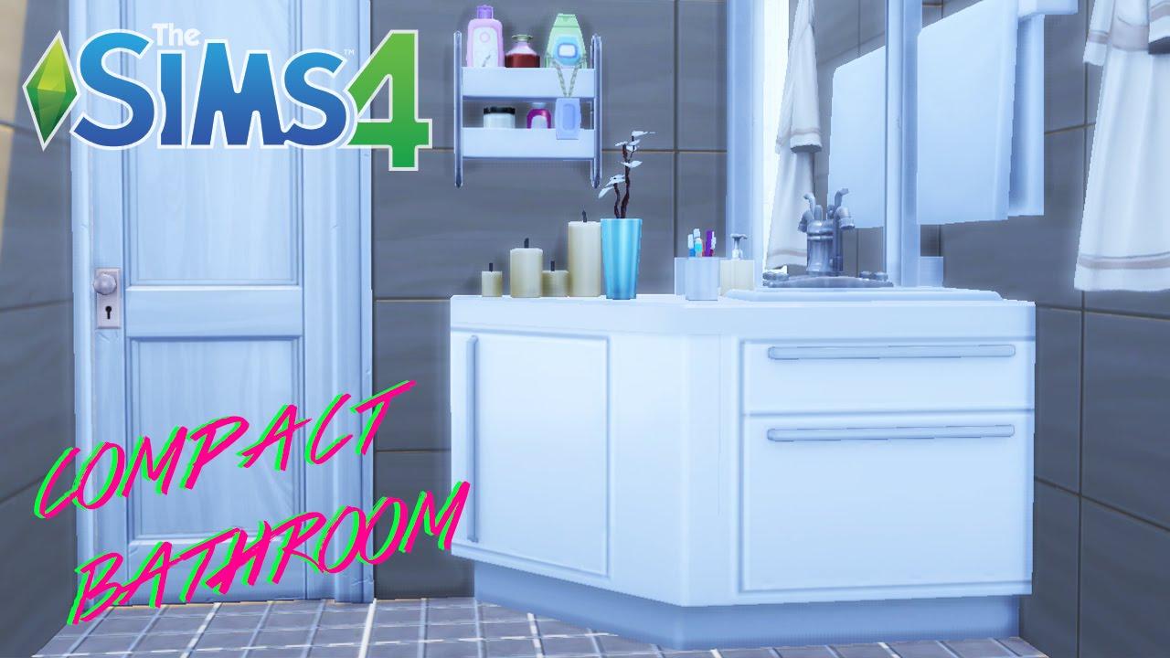 The sims 4 compact bathroom youtube for Bathroom ideas sims 3