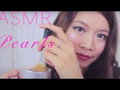 ASMR Tingly Balls of Makeup• Pearl Face Brushing Salon *Buff*Swirl*Slide* (Ear to Ear)
