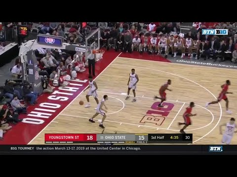 First Half Highlights: Youngstown State at Ohio State | Big Ten Basketball