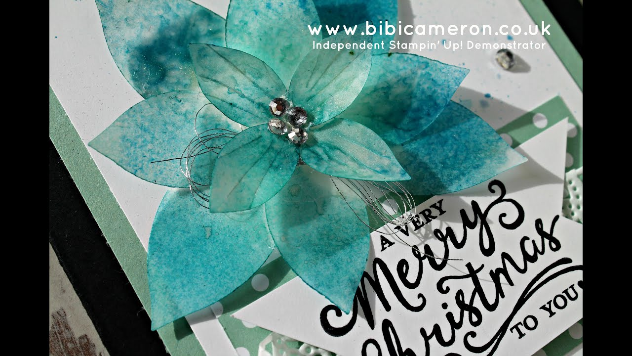 How to create a vellum poinsettia festive flower punch stampin up how to create a vellum poinsettia festive flower punch stampin up youtube mightylinksfo Choice Image