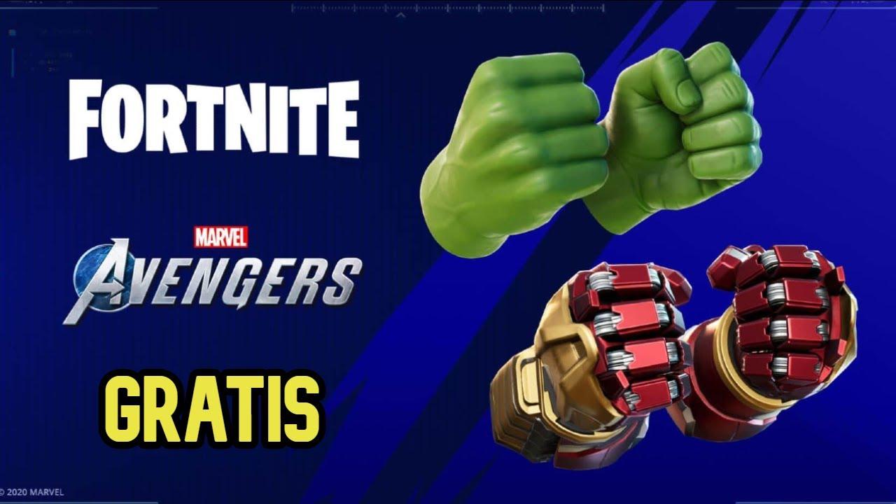 Youtube Avengers Fortnite Fortnite X Avengers Como Conseguir Los Nuevos Picos De Hulk Y Iron Man Totalmente Gratis Youtube