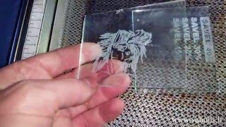 Cutting and engraving real glass with cheap Chinese laser
