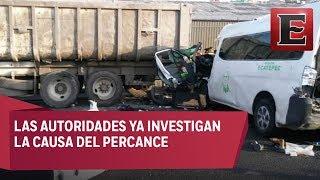 13 muertos tras choque en la México-Pachuca