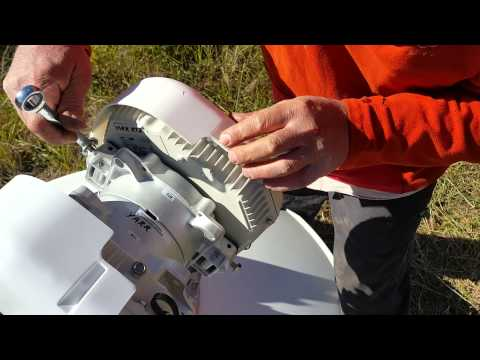 Mounting an ODU on a RFS dish with an OMT