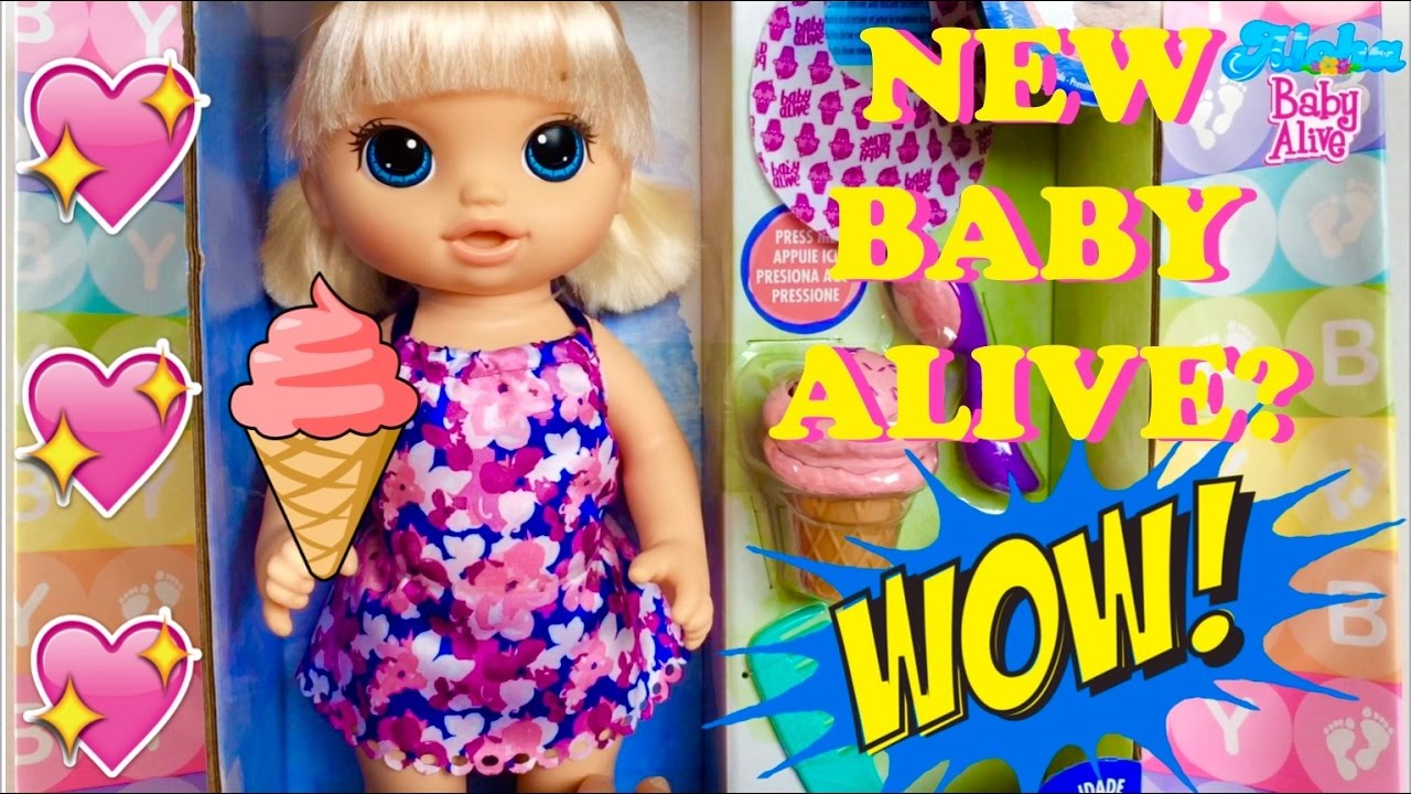 New Baby Alive Magical Scoops Baby Doll 💖🍦💖 Unboxing