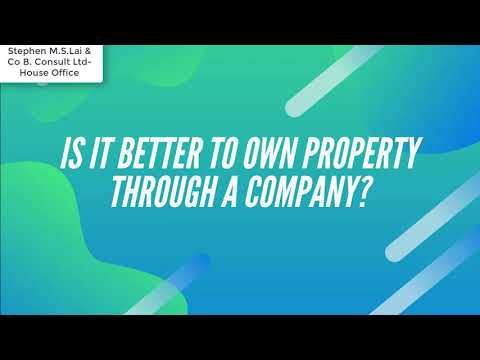 Buy property through an offshore company/ foreign company buying uk property
