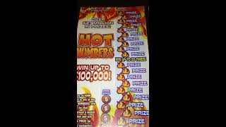 2 X $5 Hot Numbers Texas Lottery Scratch Offs
