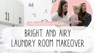 5 EASY WAYS TO ORGANIZE + MAKEOVER YOUR LAUNDRY ROOM IN A WEEKEND