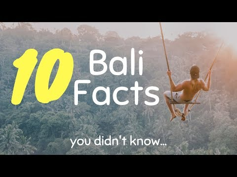 10 BALI FACTS you didn't know
