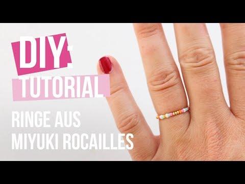 Schmuck machen: Ringe mit Miyuki rocailles ♡ DIY