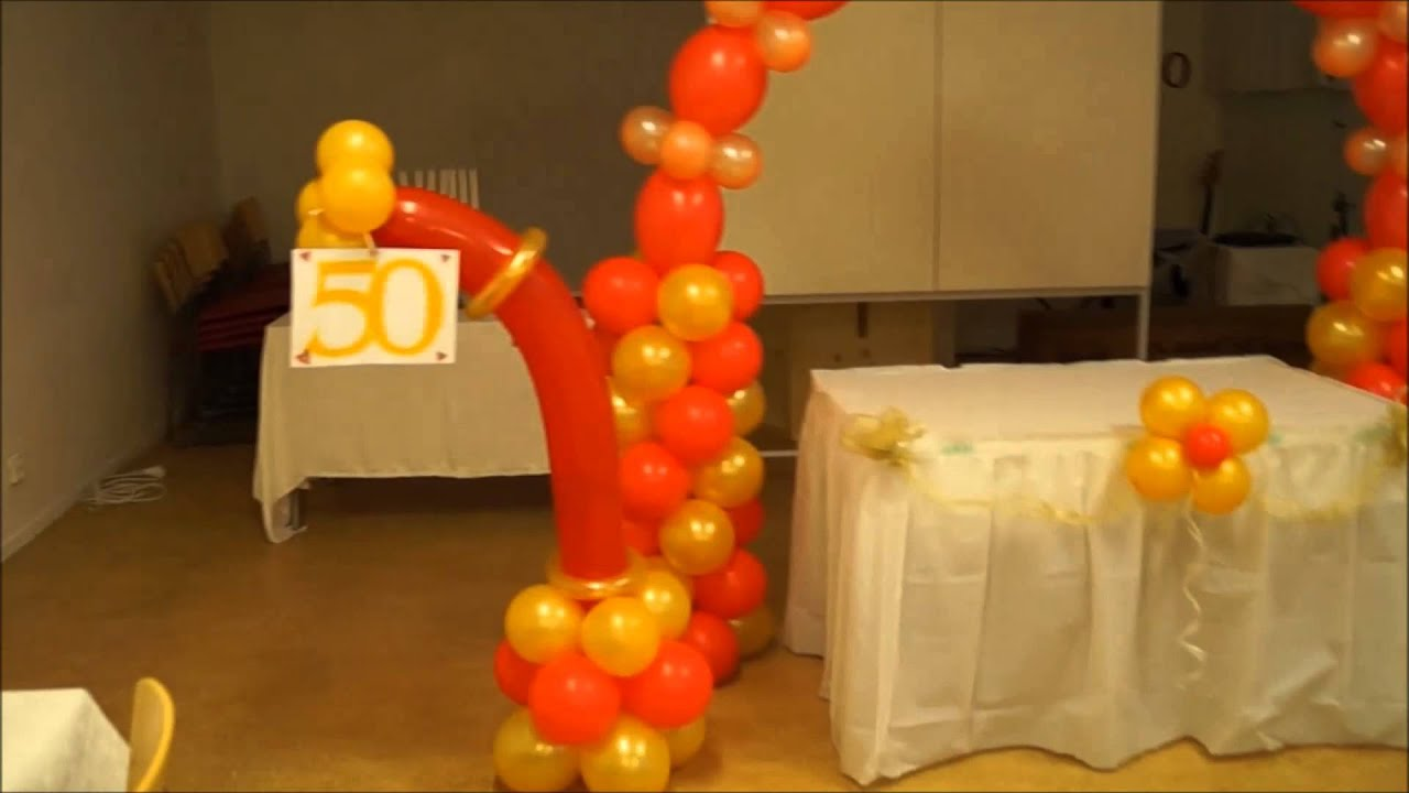 Decoracion de fiesta para adulto 50 a os youtube for Decorar casa 60 m