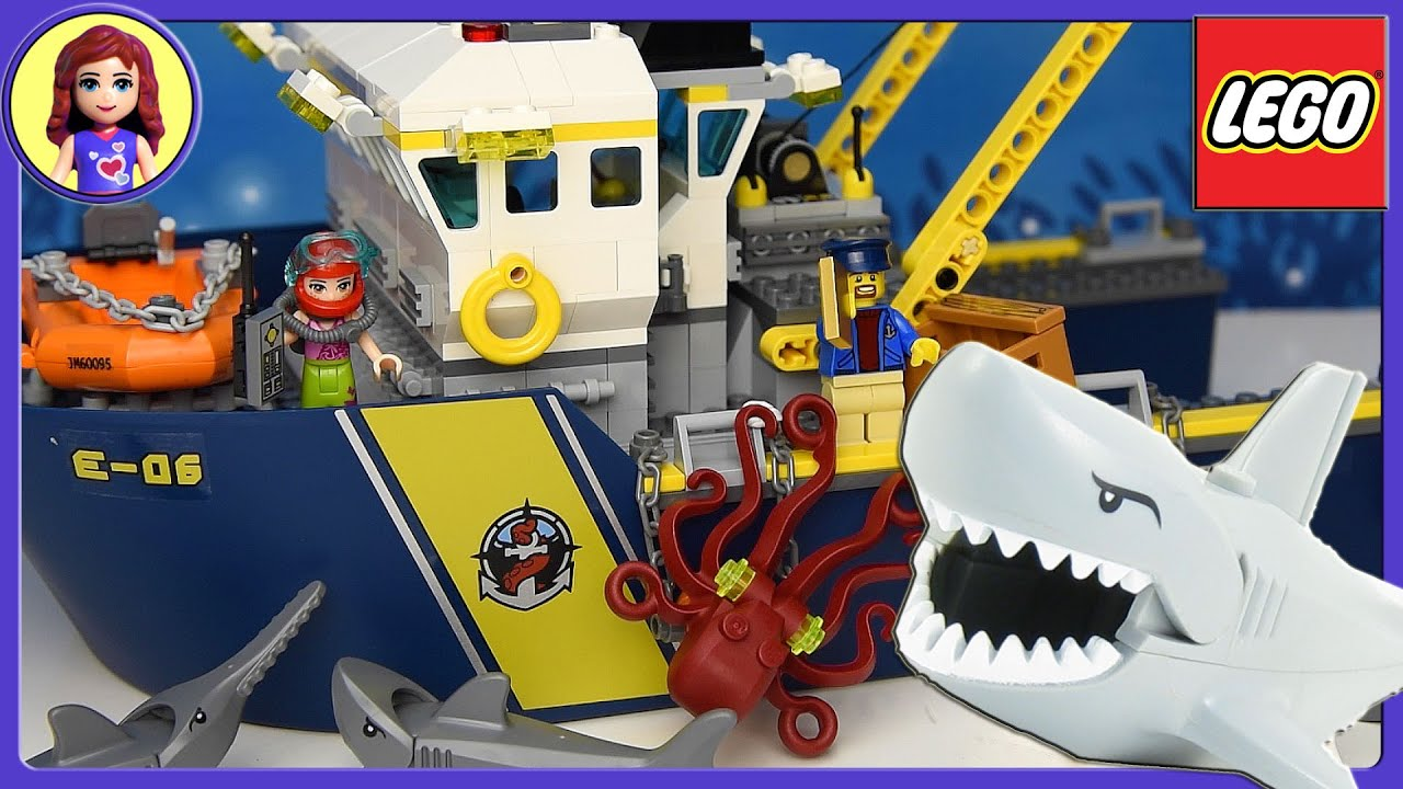 Lego Shark Toys For Boys : Lego city deep sea exploration vessel set build review