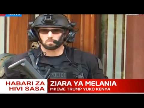 Melania Trump's security detail during her visit to Kenya