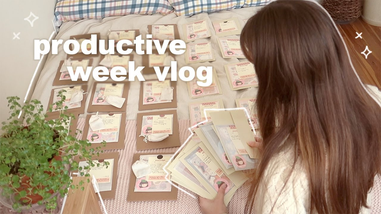 productive week in my life 📦🍃 shop launch, packing 100+ orders, fall clothing haul, studio vlog