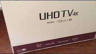 UNBOXING LG TV 49UJ63 4K HDR