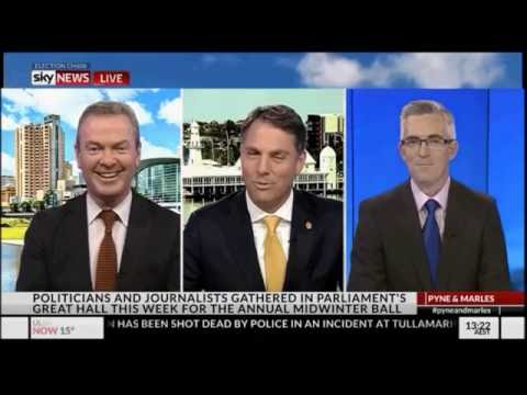 Christopher Pyne tells David Speers to stop talking on Pyne & Marles show