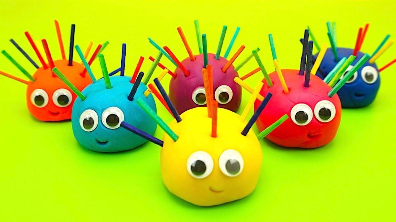 Пластилин для детей, лепим и учимся