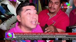 Familias aprovechan los descuentos y promociones de artículos escolares en Mercados de Managua