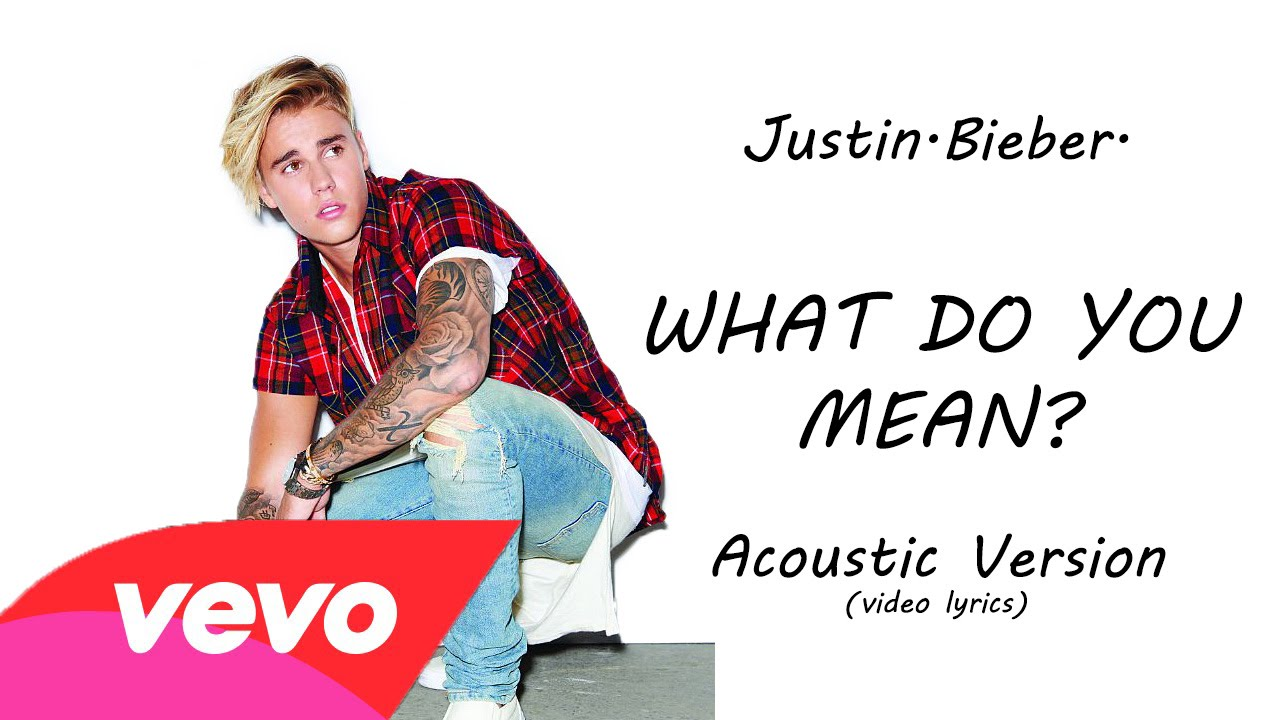 Justin bieber what do you mean acoustic video lyrics pictures