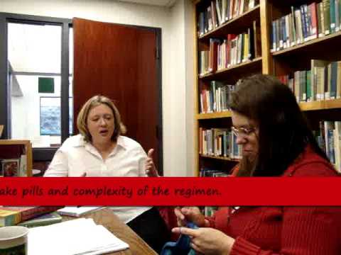 Teaching an HIV patient about antiretroviral therapy