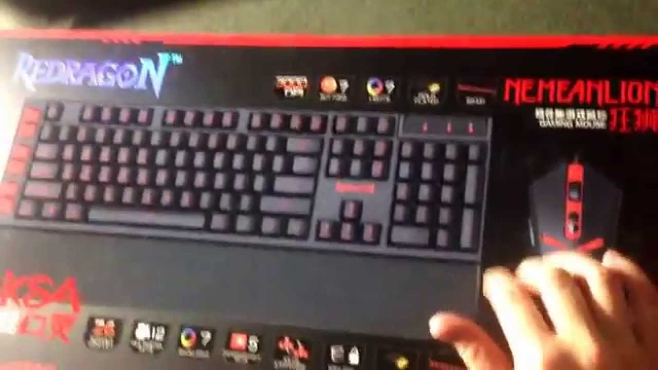 98660f4993c Red Dragon S102 Gaming Keyboard and Mouse unboxing and review. - YouTube