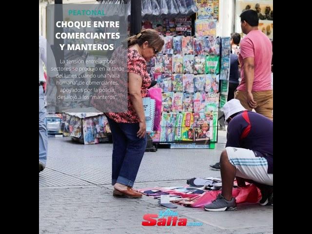 CHOQUE ENTRE COMERCIANTE Y MANTEROS